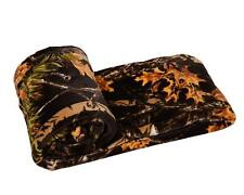 CAMO SOFT FLEECE BLANKET : THE WOODS LICENSED CAMOUFLAGE HUNTING TWIN THROW