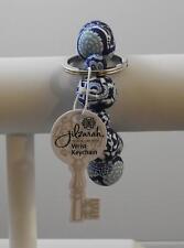 Jilzara Navy Wrist Keychain Polymer Clay Beads Handmade Artisan Jewelry Y5