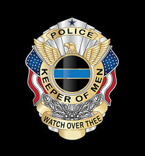 Keeper of Men Police Law Enforcement Memorial 9/11 9-11 Badge Poster Print Gift