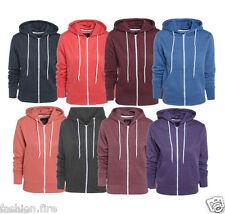 Womens Plain Hoodies For Ladies & Girls Sweatshirt Fleece Hoodies XMAS UK 8-26