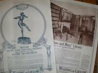 2 Waring & Gillow of London Oxford Street 1913 adverts