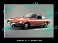 OLD LARGE HISTORIC PHOTO OF 1974 DATSUN 240Z LAUNCH PRESS PHOTO 1