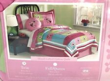 Kids Expressions Twin Bedding Set Quilt Sham Pillow Lamp Shade Lot Flowers New