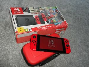 NINTENDO SWITCH Games Console Unpatched Red Super Mario Odyssey Limited Edition