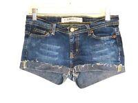 Express Womens Jeans Shorts No Size Waist 29 Blue Denim Rolled Hem Folded
