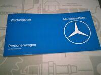 neues Wartungsheft Serviceheft Mercedes W116 W107 R107 W123 SL SLC 280 350 450