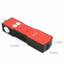 BESTEK 200W Power Inverter DC 12V to AC 110V Car Inverter with 4.8A 4 USB P