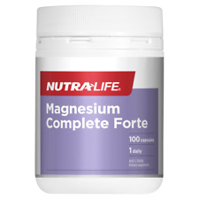 Nutra-Life Magnesium Complete Forte 100 Capsules High Strength 400mg NutraLife