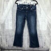 Silver Suki Surplus Jeans Womens size 27x30 Medium Wash Flap Pockets Bootcut