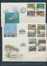 XC20640 Namibia 1991 -1992 fish & landscapes FDC's used
