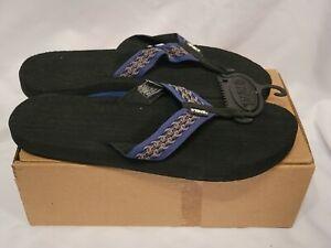 NEW in BOX TEVA MUSH Thong Flip Flop Sandal s/n 6108 LIZARD 13