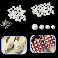 Half Round Pearls Rivets Studs for Shoes Decoration Wedding Jean 8/10/12mm x 100