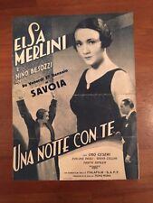 BROCHURE,VINTAGE,1933,UNA NOTTE CON TE Elsa Merlini Nino Besozzi Emo