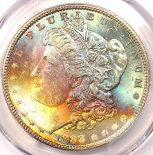 1888 Toned Morgan Silver Dollar $1 - Certified PCGS MS62 - Nice Rainbow Toning!