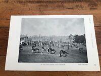 "1896 racing illustrated print "" doncaster sale paddock & leopardstown racing """
