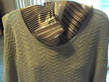 WOMANS CLOTHING COLDWATER CREEK TOP W/SHORT SLEEVES   SIZE.MED.  NEW