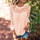 Women Blouse Chiffon Long Sleeve Shirt Summer Loose Casual Top T-shirt Plus Size