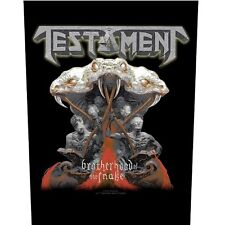 TESTAMENT brotherhood of the snake 2017 - GIANT BACK PATCH - 36 x 29 cms