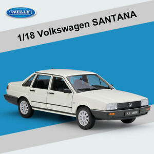 New 1:18 Scale Diecast Model Car Toys VW Volkswagen SANTANA White for Collection