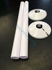 Q2 - 15mm Revestimiento De Radiador & Collar Blanco 200mm de largo-Snappit-RADSNAP Rad