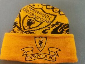 Rare Vintage Mustard Liverpool Football Club Winter Hat Made In The Uk By Adidas