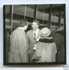 photo ancienne . CHARLES TRENET . Aéroport d'Orly