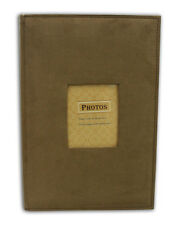 "Suede Cover Brown Photo Album Holds 300 4""x6"" pictures  3 per page"
