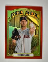 2021 Heritage Base Chrome Red #444 Chris Sale /372 - Boston Red Sox