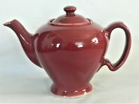 MCCORMICK HALL TEAPOT,MAROON, MARKED MCCORMICK TEA BALTIMORE  1930'S,MADE USA,