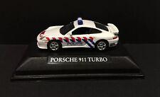 Real-X Porsche 911 TURBO Diecast Car Model WHITE