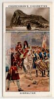 Gibraltar British Crown Colony Rock Fortress Harbor  1930sTrade Ad Card