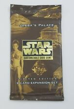 Star Wars customizable card game Limited edition 9 card expansion Jabba's Palace