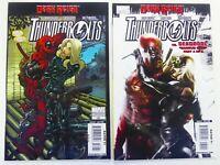 Marvel THUNDERBOLTS #130 2nd Print + #131 DEADPOOL App MATTINA VF/NM Ships FREE!