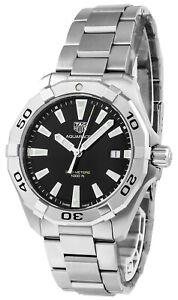 Tag Heuer Aquaracer Quartz 41mm Black Dial SS Men's Watch WBD1110.BA0928