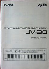 Roland JV-30 Synthesizer Keyboard Original Owners Manual Book, 1992