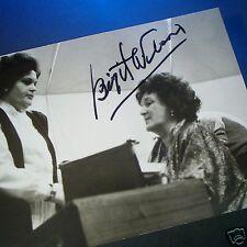 BIRGIT NILSSON Autographed CANDID ORIGINAL PHOTO with Student