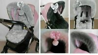 Hood fur trim pushchair, pram hood  universal fit compatible with Silver Cross