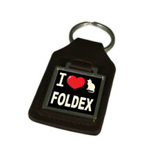 I Love My Cat Key Ring Engraved Foldex