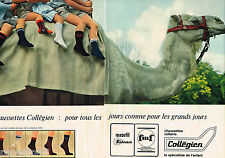 PUBLICITE ADVERTISING 055  1966  COLLEGIEN  chaussettes enfants ( 2 pages)
