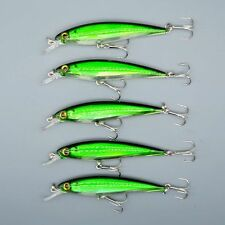 5pcs/Lot Wobblers Minnow Fishing Lures Crank Bait Hooks Bass Tackle 11CM/13.4G