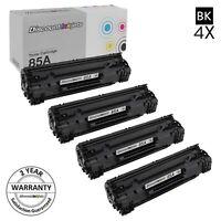 4PK CE285A 85A Black Printer Toner Cartridge for HP LaserJet Pro M1217nfw MFP
