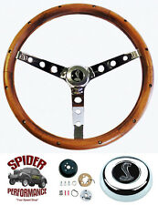 "1965-1969 Mustang steering wheel COBRA 15"" CLASSIC WALNUT steering wheel"