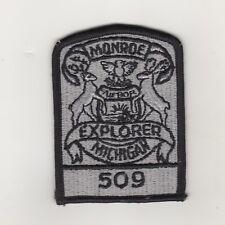 Un écusson USA police uniforme Shoulder patch Monroe Michigan Explorer 509
