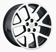 "4) 20"" AWD Viper Machined Black Charger Magnum 300C Wheels Rims Set Dodge"