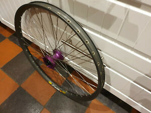 Mavic EX729 Disc on Purple Hope Big-Un Front Wheel - Retro DH Bike / Tandem