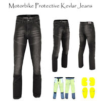 CE Armoured Mens Motorcycle Jeans Motorbike Pant Denim Trousers Made with Kevlar