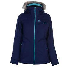 Chaqueta esquí Salomon aumento cremallera repelente al agua superior abrigo señoras con cremallera Reino Unido 14