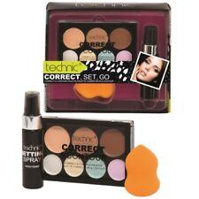 Technic Cream 7 Colour Correct & Contour Palette Blender schwamm + Fixierspray