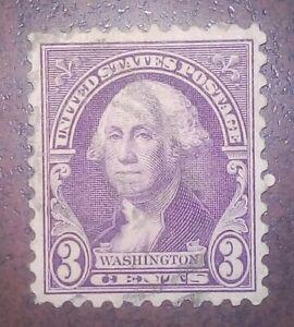 Rare -- George Washington stamp 1932 U.S. United States postage 3 cent VFU stamp