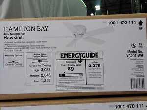 Hawkins 44 in. Indoor White Ceiling Fan by Hampton Bay